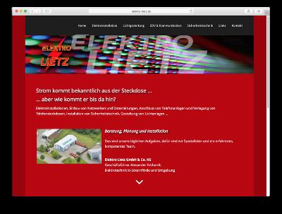 Relaunch Webseite Elektro Lietz -Webdesign: J. Bob-Fuchs, Bruckmühl