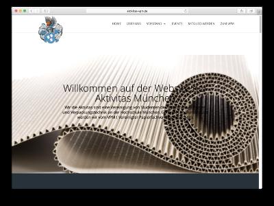 Neue Webseite Aktivitas VPM - Webdesign: J. Bob-Fuchs, Bruckmühl
