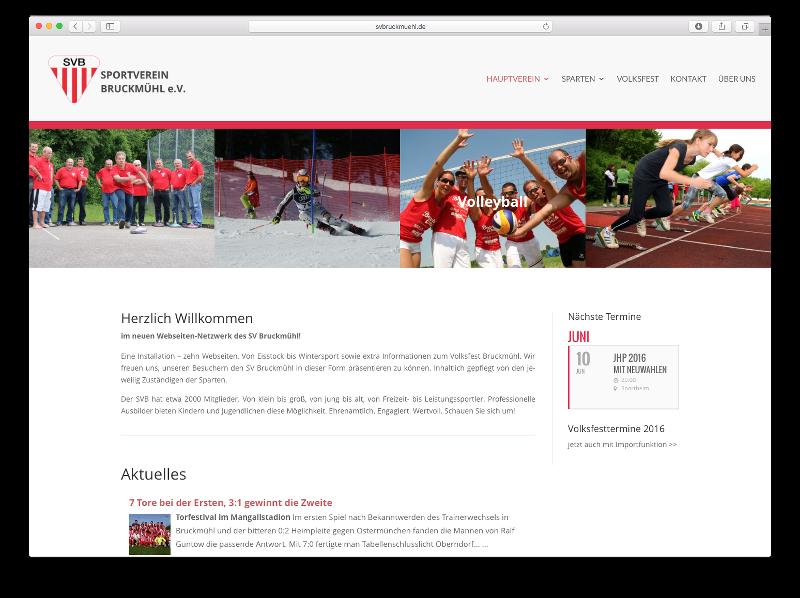 Neue Webseite SV Bruckmühl - Webdesign: J. Bob-Fuchs, Bruckmühl