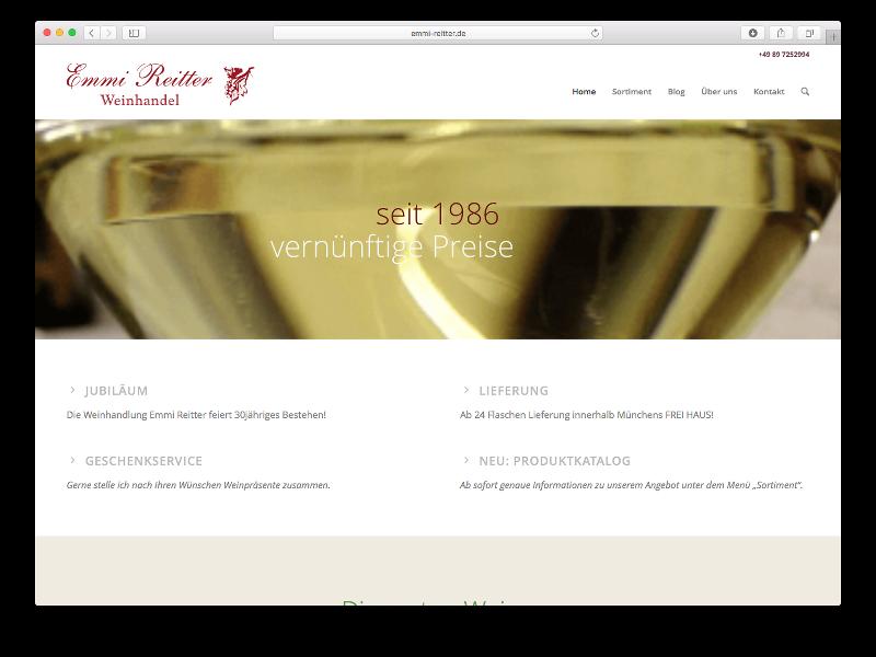 Webseite Emmi Reitter - Webdesign: J. Bob-Fuchs, Bruckmühl