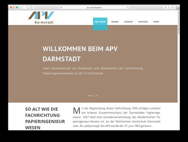 Neue Webseite APV Darmstadt - Webdesign: J. Bob-Fuchs, Bruckmühl