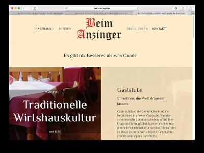 Neue Webseite Beim Anzinger - Webdesign: J. Bob-Fuchs, Bruckmühl