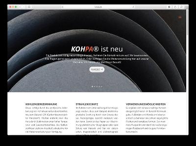 Neue Webseite KOHPA - Webdesign: J. Bob-Fuchs, Bruckmühl