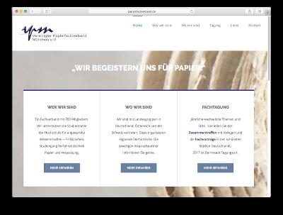 Webseite VPM - Papierfachverband München - Webdesign: J. Bob-Fuchs, Bruckmühl