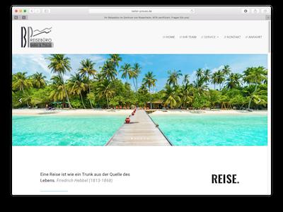 Neue Webseite Reisebüro Beller-Preuss - Webdesign: J. Bob-Fuchs, Bruckmühl