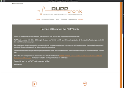RUPPtronik – HF- und Mikrowellenprodukte
